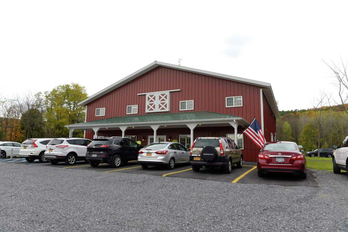 A view of the Riverside Maple Farms during the grand opening of business on Thursday, Oct. 26, 2017, in Glenville, N.Y. The farm will offer tours of the of the working facility, which produces maple syrup, candies, maple spread, maple cotton candy and other products. The maple farm also has a retail store open to the public year round. (Paul Buckowski / Times Union)