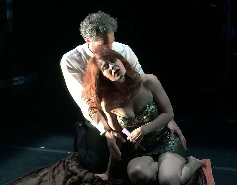 "Daniel Cilli (left) and Nikki Einfeld in ""Death With Interruptions."" Photo: Lena Zentall"