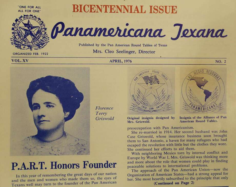 A Pan American Round Table of Texas newsletter from 1976 features a photo of Florence Terry Griswold. Photo: Bob Owen /San Antonio Express-News / ©2017 San Antonio Express-News