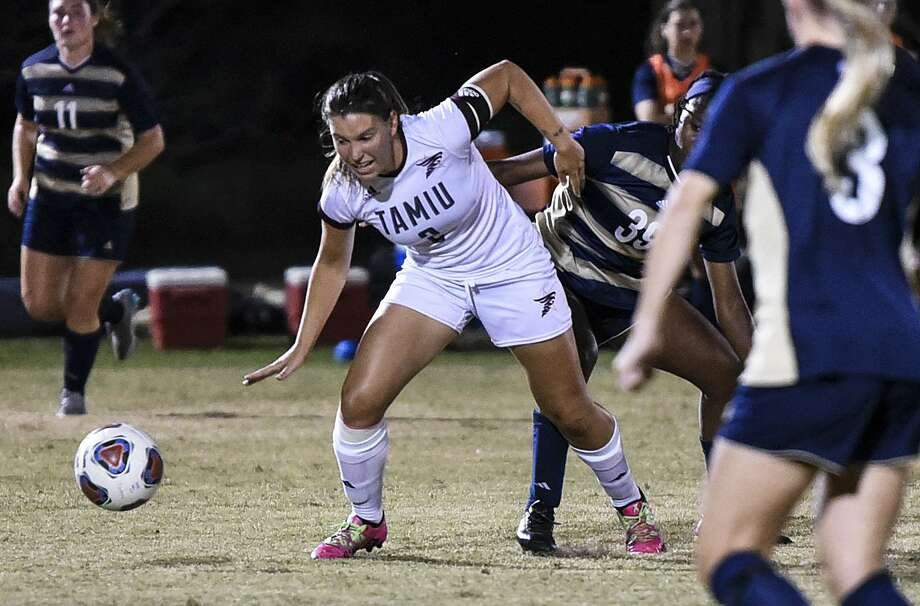 Cio Bargallo leads the Dustdevils into the 2018 season on Sunday at Texas of the Permian Basin at noon. She scored 17 goals last year as a sophomore — the fifth-most in Heartland Conference history. Photo: Danny Zaragoza /Laredo Morning Times File