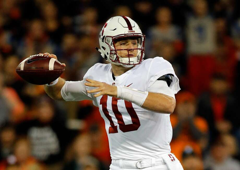 CORVALLIS, OR - OCTOBER 26:  Quarterback Keller Chryst #10 of the Stanford Cardinal throws against the Oregon State Beavers at Reser Stadium on October 26, 2017 in Corvallis, Oregon.  (Photo by Jonathan Ferrey/Getty Images) Photo: Jonathan Ferrey, Getty Images