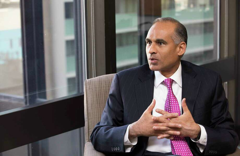 LyondellBasell Industries CEO Bob Patel talks about growth, rebranding and the 10-year anniversary of the formation of the company when Lyondell and Basell merged into what is now a $40 billion companyon at his office on Wednesday, Oct. 18, 2017, in Houston. ( Yi-Chin Lee / Houston Chronicle ) Photo: Yi-Chin Lee, Houston Chronicle / © 2017  Houston Chronicle