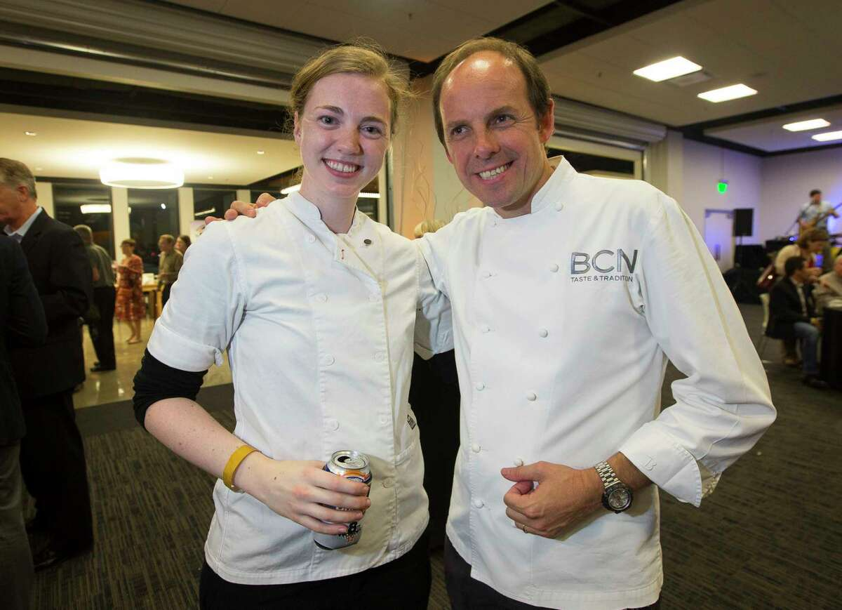 Chefs Martha De Leon of Pax Americana and Luis Roger of BCN Taste & Tradition at Culinary Stars