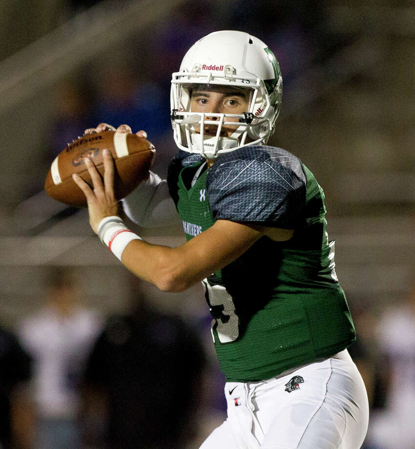 Kingwood Park quarterback Daniel Bresko (15) drops back to pass during the second quarter of a District 21-5A high school football game at Turner Stadium, Thursday, Oct. 26, 2017, in Humble. Photo: Jason Fochtman, Staff Photographer / © 2017 Houston Chronicle