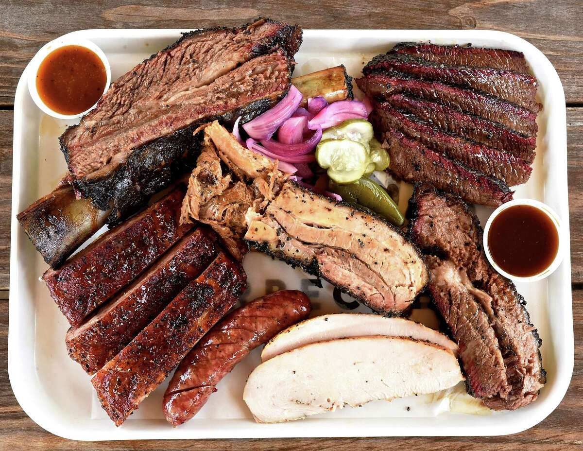 Meat platter at Killen's Barbecue in Pearland.Pitmaster/owner Ronnie Killen has announced his intentions to open a barbecue restaurant in the Woodlands.