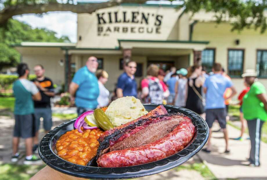 Mayor Sylvester Turner offered to send Los Angeles Mayor Eric Garcetti some Killen's Barbecue and Saint Arnold beer if the LA Dodgers won the World Series. Photo: Nick De La Torre, For Houston Chronicle / © de la Torre Photos LLC