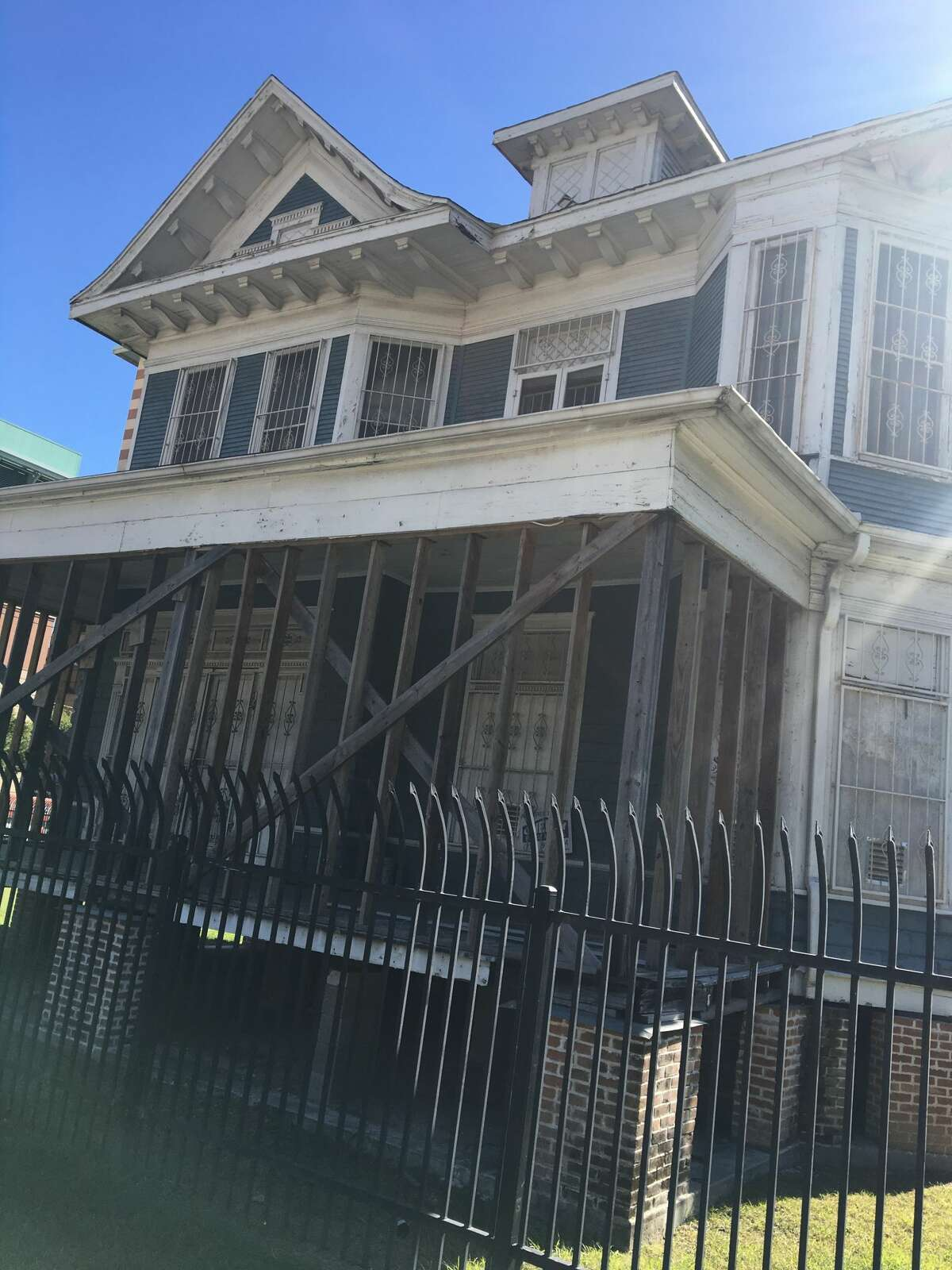 The two-story blue house is a throwback from the posh, residential former life of that area. Known as the Cohn House, it was built in 1905 by Arthur Cohn and was once located down the street on Rusk.  See how Houston's neighborhoods show off their distinct styles through their homes...