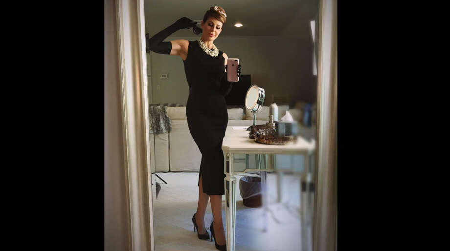 A screenshot of video footage from KPRC-TV anchor Dominque Sachse's YouTube channel on Oct. 27, 2017. Sachse promoted a quick-and-easy tutorial on dressing up like Audrey Hepburn.Source: YouTube Photo: File/Dominique Sachse Via YouTube