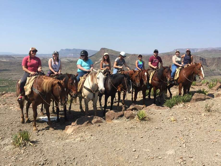 Texas State University mass communication students explored Big Bend Ranch State Park on horseback during a Study in America program trip to parks in West Texas and New Mexico in June. Photo: Armando Rodriguez /Texas State University