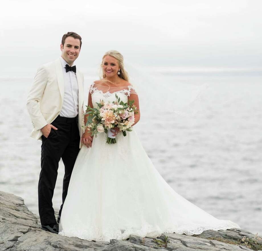 Emily Veronica Wyckoff and Anthony James DePalma were married Aug. 5 at St. Joseph's Church in Newport, R.I. Photo: Contributed / Contributed Photo / Fairfield Citizen
