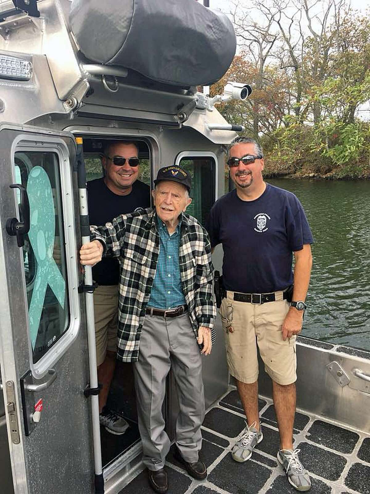 The Fairfield Police Department helped Donald Murray, 93, check an item off his bucket list by giving him a ride on the department's police boat.