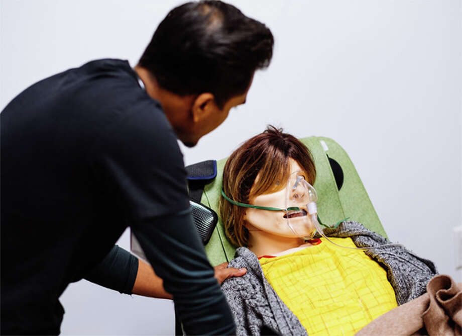 Julia, a high-tech University of Houston mannequin, is used to train nursing students how to talk terminal patients through their end-of-life stages.  Photo: University Of Houston, Courtesy Of University Of Houston