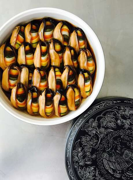 The mussel dish by Corey Lee is one of the small bites that begins the dinner at Benu. Photo: Corey Lee, Special To The Chronicle