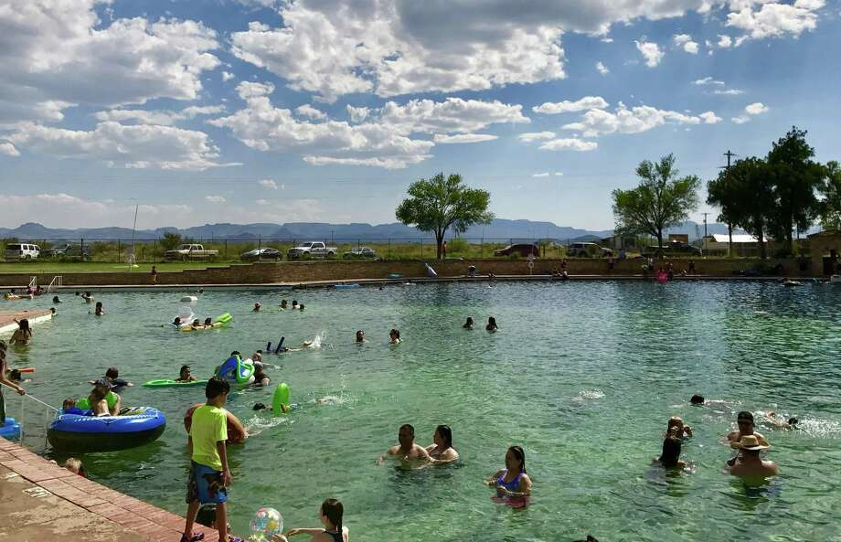 The clear blue water of the pool at Balmorhea State Park is spring fed and reaches a depth of 25 feet. Photo: Cassandria Alvarado /Texas State University