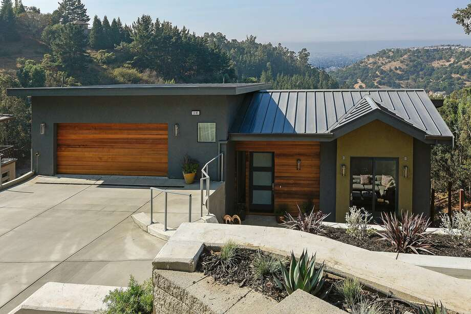 5695 Skyline Blvd. in Oakland is a Zero Net Energy four-bedroom contemporary listed at $2.089 million.  Photo: Open Homes Photography