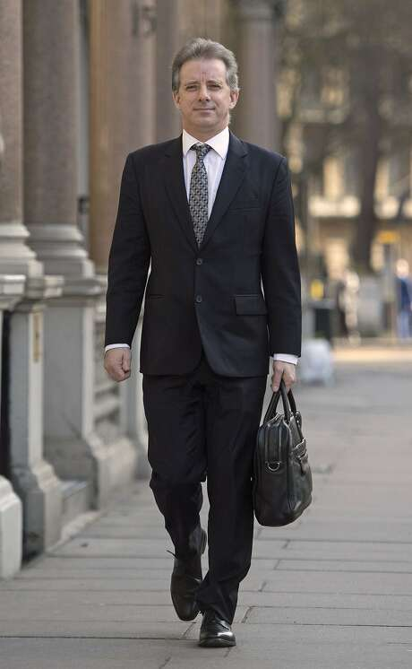 Trump dossier. Christopher Steele, the former MI6 agent who set-up Orbis Business Intelligence and compiled a dossier on Donald Trump, in London where he has spoken to the media for the first time. Picture date: Tuesday March 7, 2017. See PA story POLITICS Trump. Photo credit should read: Victoria Jones/PA Wire URN:30440595 Photo: Victoria Jones, PA Wire/PA Images
