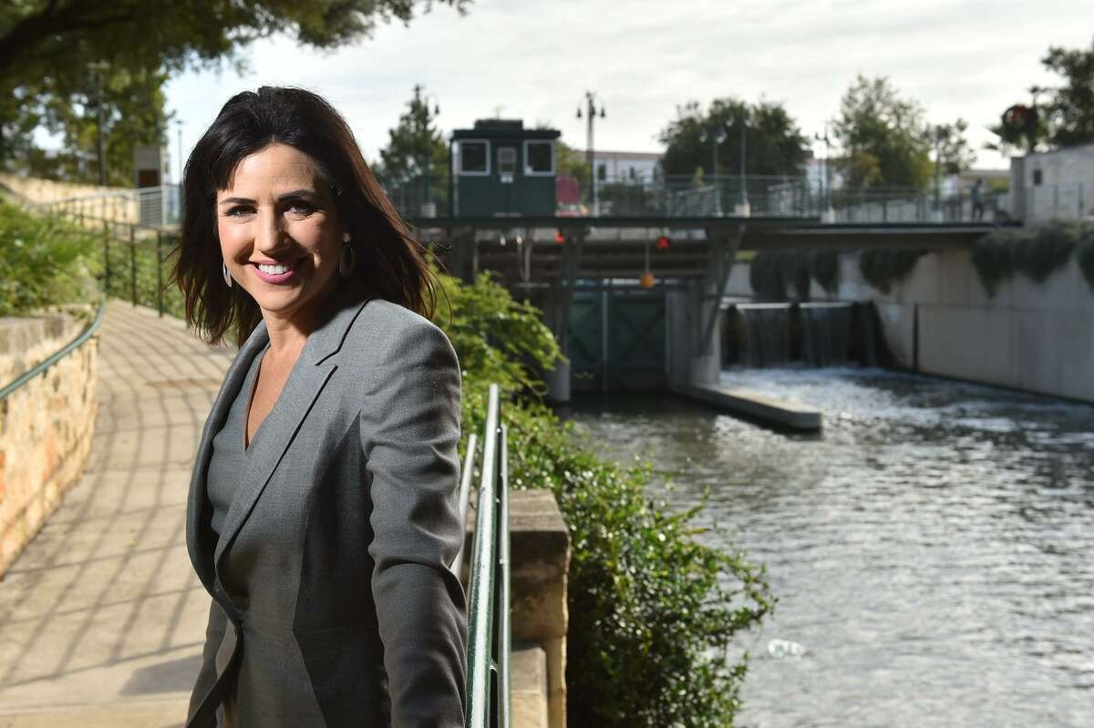 Assistant City Manager Lori Houston along the Museum Reach portion of San Antonio River near Brooklyn St. Houston was the project manager for the construction of the Museum Reach trail, which has sparked a development bonanza on the northern stretch of the San Antonio River.