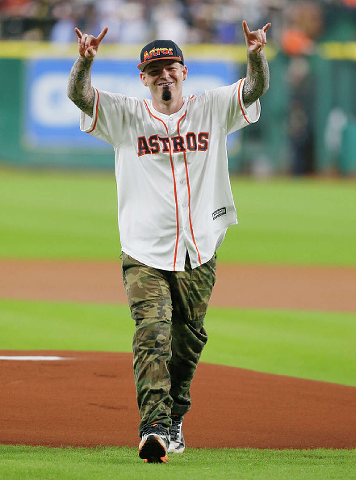 Paul Wall In honor of the Astros making it to the World Series, the Houston rap artist offered free grillz to the entire team. Browse through the photos for more of the Houston rapper. (Photo by Bob Levey/Getty Images)