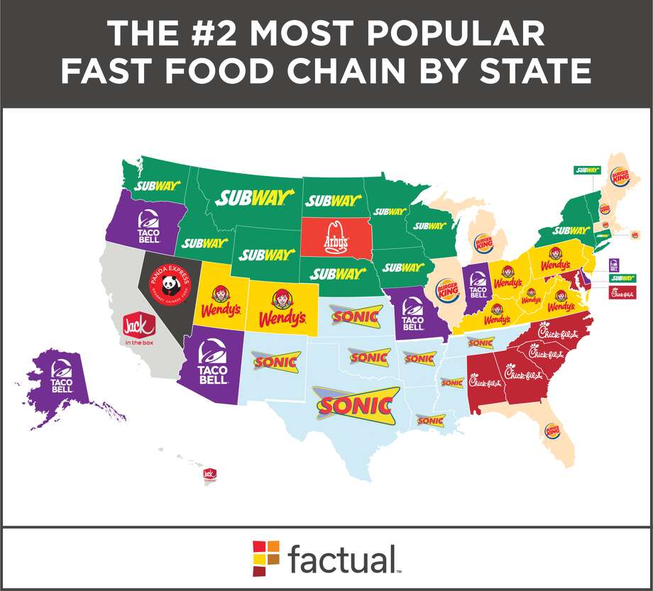 Fast Food Chains By State