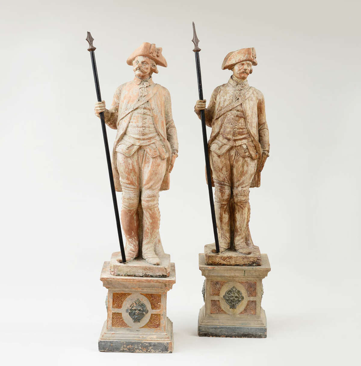 French terracotta soldiers are among the items being auctioned Oct. 28-29 at the Stair Galleries in Hudson. (image from stairgalleries.com)