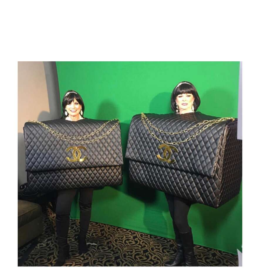 "Boxtume""Chanel Purses"" - Terri Courtney (left) from Spring Photo: Live With Kelly And Ryan"