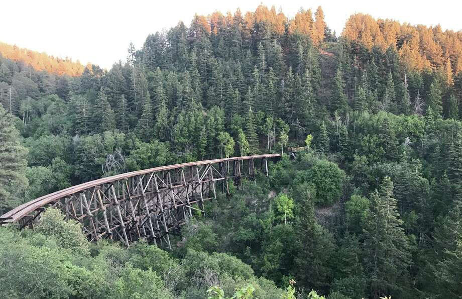 The Overlook off of U.S. Highway 82 outside Cloudcroft, New Mexico, allows tourists a great view of the forest and the old trestle. Photo: Ashley Simpson /Texas State University
