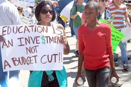 Numerous concerned citizens chanted and marched at the state capitol over proposed cuts to public education funding last year. It's become clear: The Robin-hood system of school funding is not working.