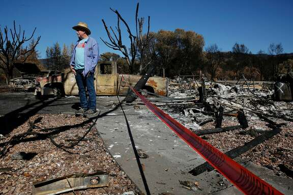 Art and Denise Barclay lost their home in the fire in the Mountain Meadow neighborhood in Redwood Valley, Ca. as seen on Wednesday October 25, 2017. The Redwood Valley fire burned 36,523 acres, destroyed 545 structures and left eight people dead.