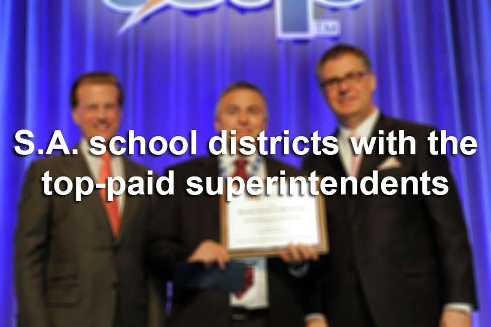 Click through the slideshow above to see how much superintendents make at the San Antonio-area's biggest school districts, according to TEA data. Numbers reflect the base pay as of October of 2017 for the 2017-2018 school year.