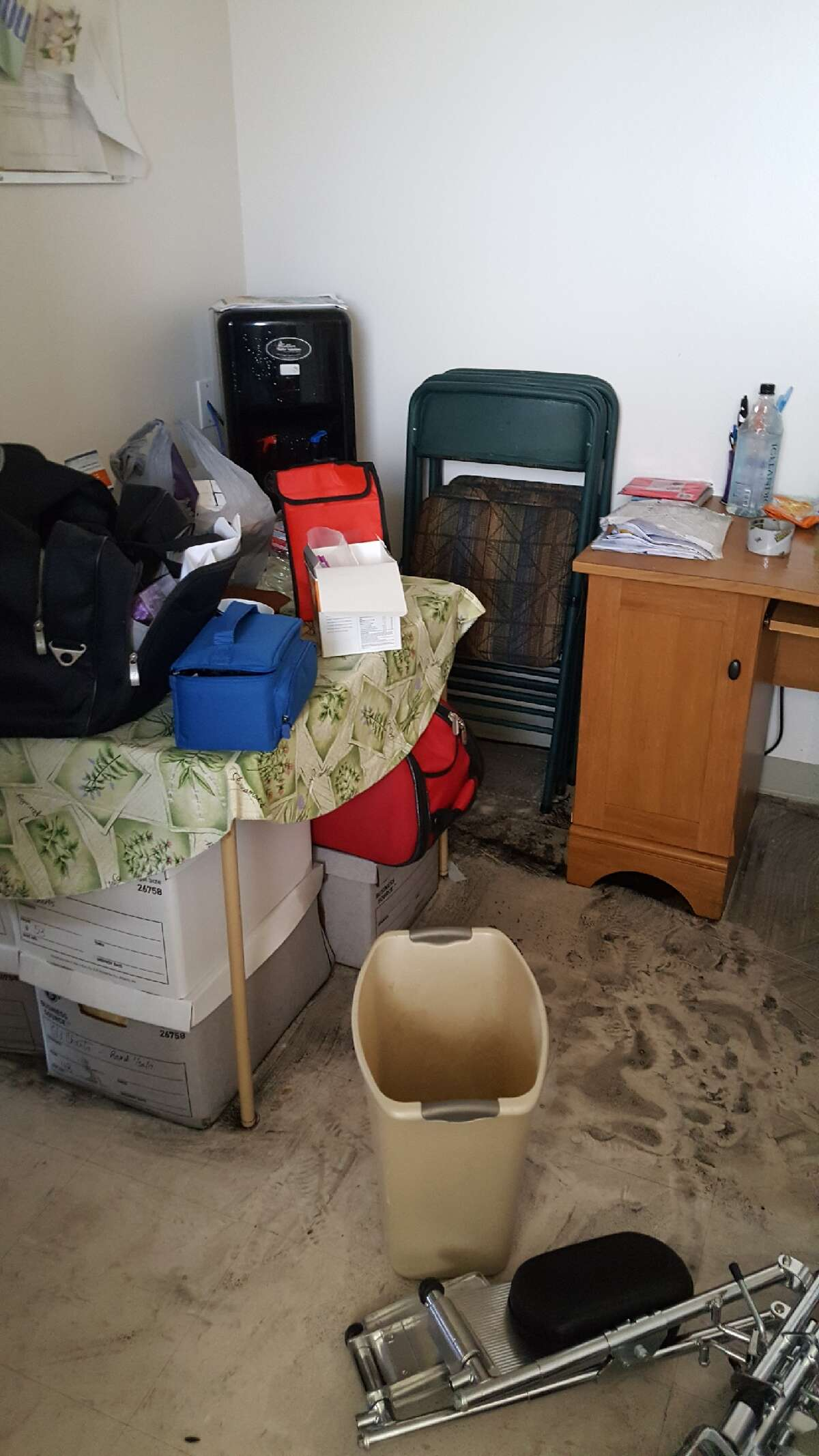 Hurricane Harvey took the roof of Dr. John Soule's Victoria practice and soaked computers, servers, patient charts, most everything. He's currently practicing in a makeshift office.