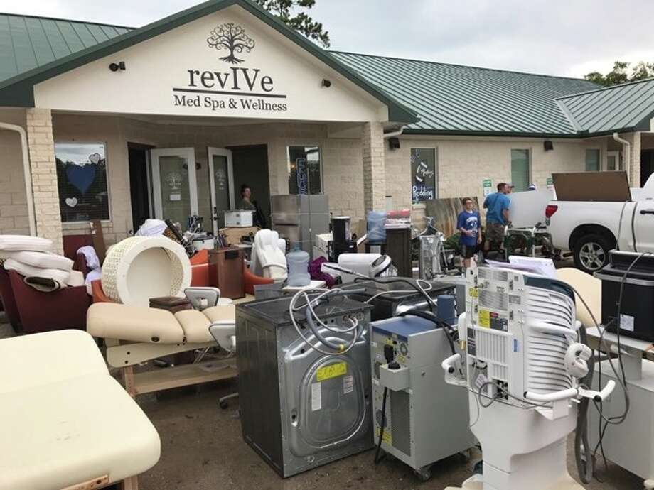 Dr. Lindsey Jackson lost $500,000 worth of equipment after her practice took in 4 1/2 feet of Hurricane Harvey floodwaters. The Friendswood practice reopened last week. Photo: Photo Courtesy Of Lindsey Jackson
