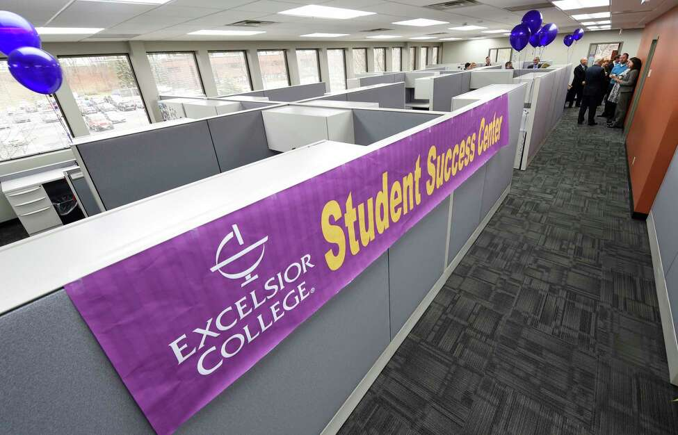 Excelsior College and Inside Track announced a new partnership Wednesday Dec. 16, 2015 to develop and launch a Student Success Center that was funded by a $9 Million grant that will provide personalized coaching and support for Excelsior students during a grand opening ceremony at their offices in Albany, N.Y. (Skip Dickstein/Times Union)