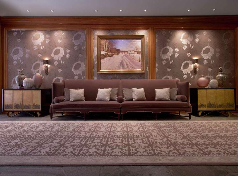 A Hallway At The St Regis Aspen Resort Holds A With Interior Designer  Houston.