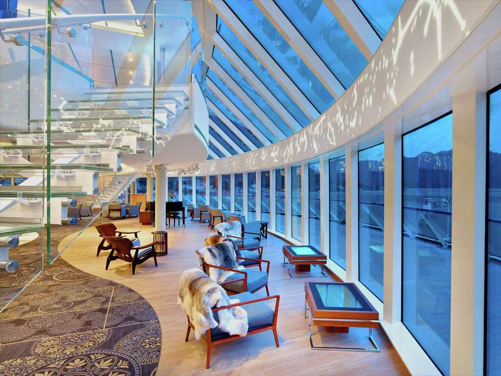 A Glazed Staircase Allows Viking Star Passengers To See Through To Either  Side Of The Ocean