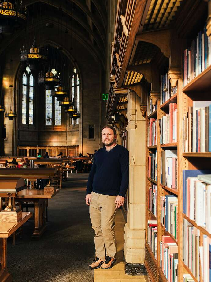 Luke Zettlemoyer, a professor at the University of Wash ington, turned down an offer from Google that would have more than tripled his salary. Photo: KYLE JOHNSON, NYT