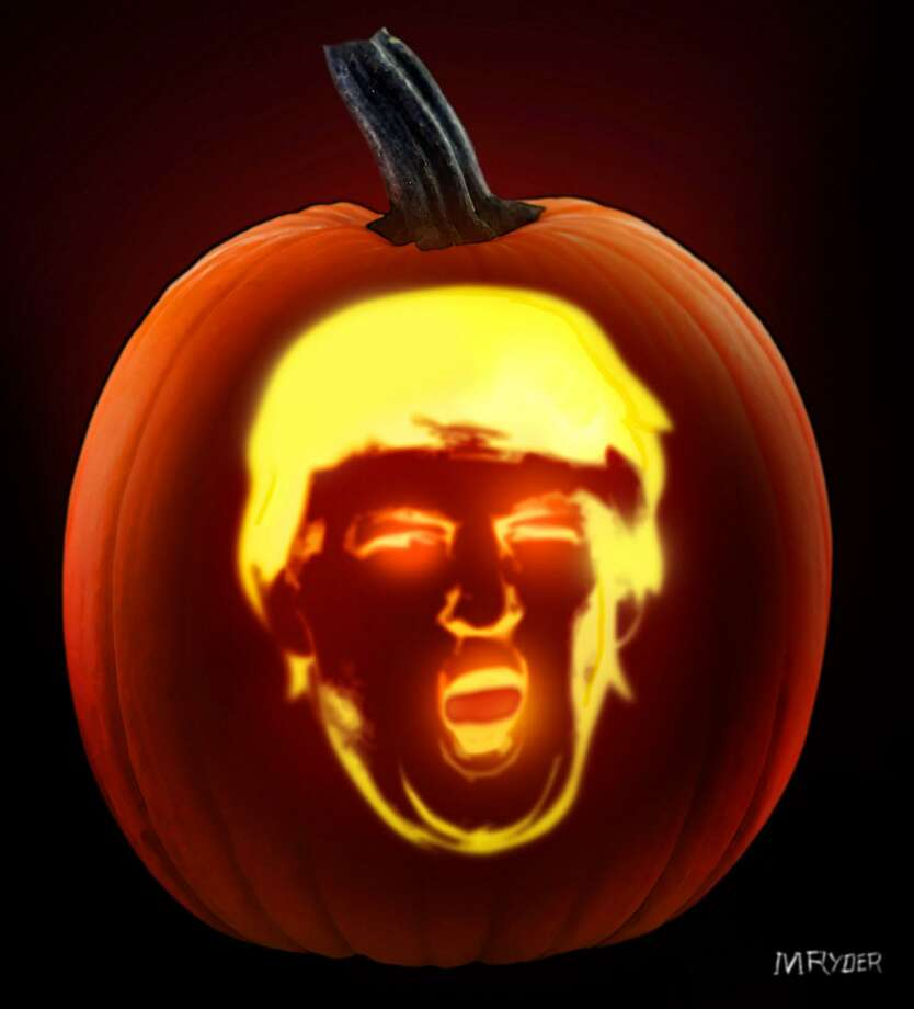 This artwork by M. Ryder refers to Trump-o-ween. Photo: M. Ryder