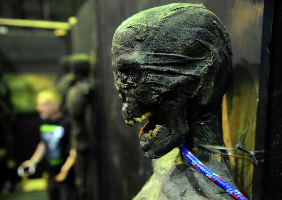 """Valentine's Day Massacre,"" a haunted attraction at Fright Haven in Stratford is open to romantic thrill-seekers from Friday to Sunday. Find out more. Photo: Christian Abraham / Hearst Connecticut Media / Connecticut Post"