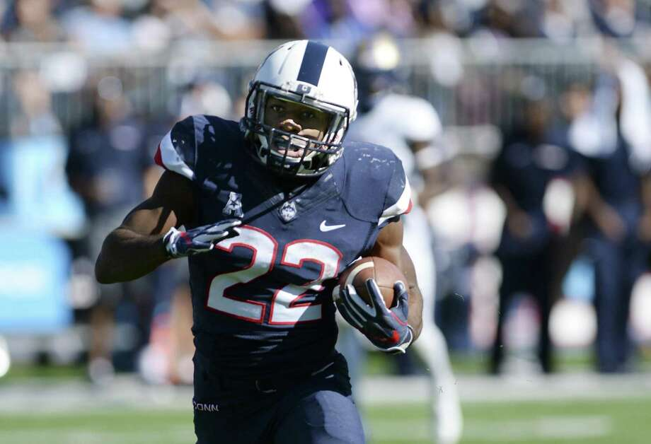 UConn will be without running back Arkeel Newsome when it faces Missouri on Saturday. Photo: Stephen Dunn / Associated Press File Photo / FR171426 AP
