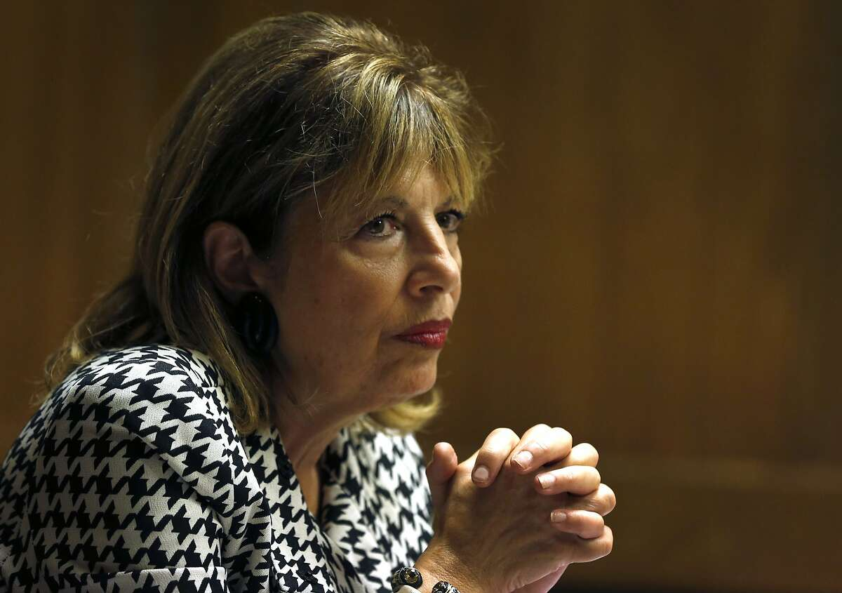 Rep. Jackie Speier meets with the Chronicle editorial board in San Francisco, Calif. on Thursday, Aug. 24, 2017.