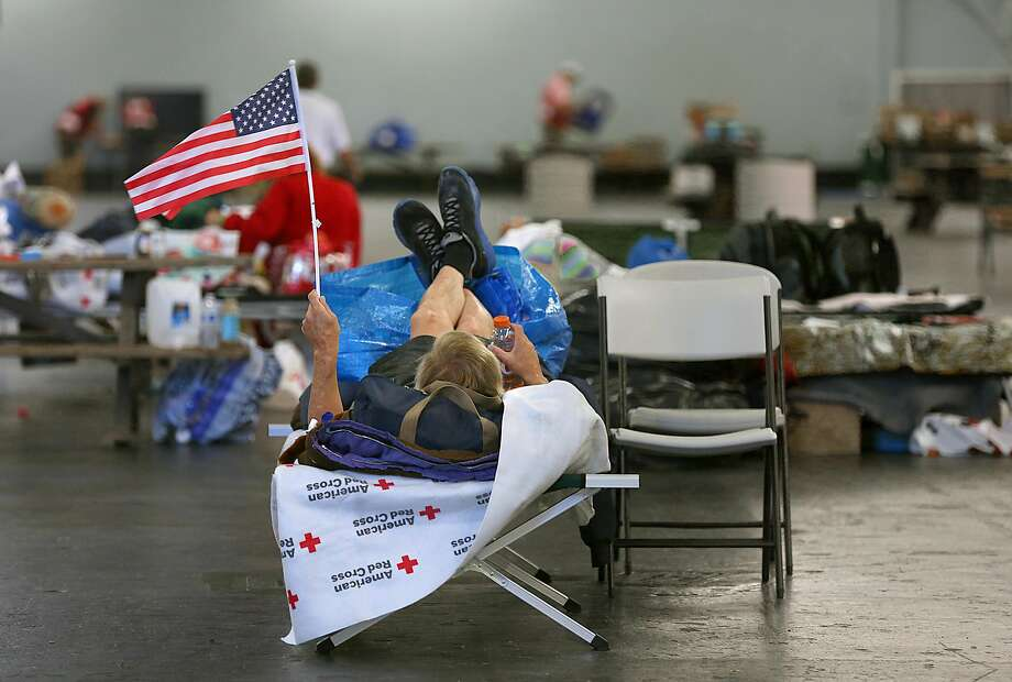 Larry Campbell, a disabled man who lost the van in which he lived and all his possessions when fire swept through Fountaingrove, waits at the Sonoma County Red Cross shelter. Photo: Liz Hafalia, The Chronicle