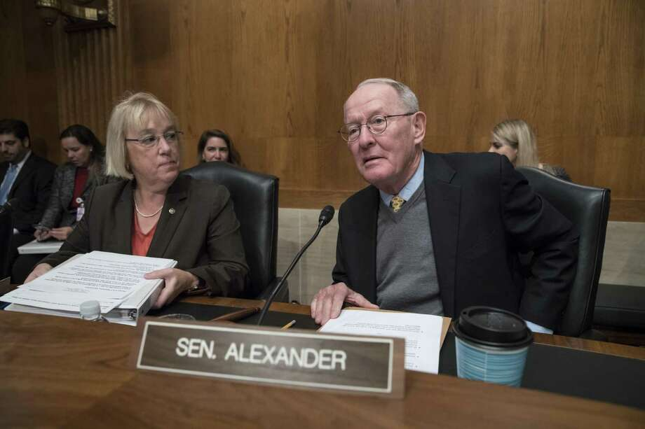 After asking Sen. Lamar Alexander, R-Tennessee, right, to come up with a bipartisan health care plan after the GOP's repeal-and-replace efforts imploded. With Sen. Patty Murray, D-Wash., he came up with one, which Trump at first indicated support for and then not. This may all point to Trump's inability to govern. Photo: J. Scott Applewhite /Associated Press / Copyright 2017 The Associated Press. All rights reserved.