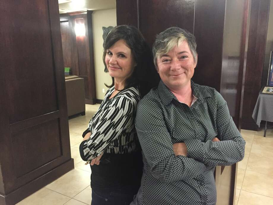 Maureena Benavides and Kerry Manzo are co-organizers behind the inaugural Out in West Texas, which brings transgender issues to the forefront in the Permian Basin. Photo: Rich Lopez/Reporter-Telegram