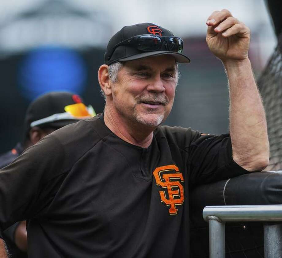 Giants manager Bruce Bochy still has three positions open following a coaching shuffle. Photo: Icon Sportswire / Icon Sportswire Via Getty Images / ©Icon Sportswire (A Division of XML Team Solutions) All Rights Reserved contact: info@iconsportswire.com http://iconsportswire.c