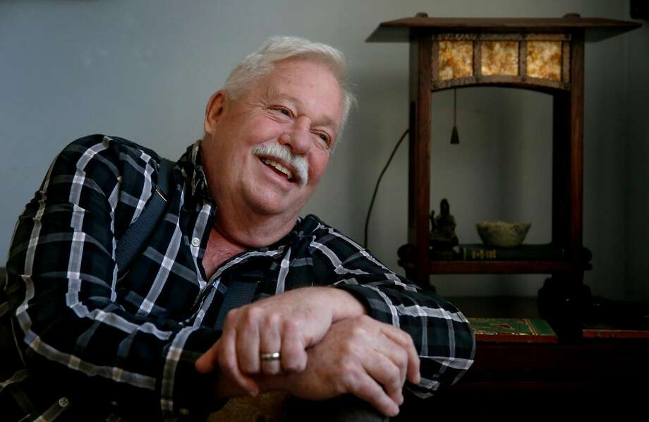 "Armistead Maupin is seen at his home in San Francisco, Calif. on Thursday, Sept. 28, 2017. The author of the ""Tales of the City"" novels, and former Chronicle writer, is beginning a nationwide book tour for his memoirs, ""Logical Family"". Photo: Paul Chinn, The Chronicle"