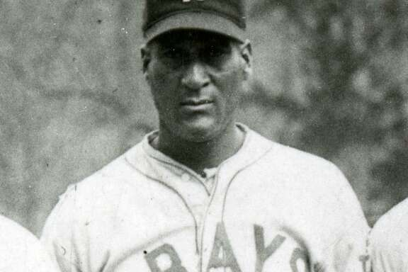 "Baseball Hall of Famer ""Smokey"" Joe Williams, a native of Seguin, poses with the Negro Leagues' Homestead Greys in 1931."