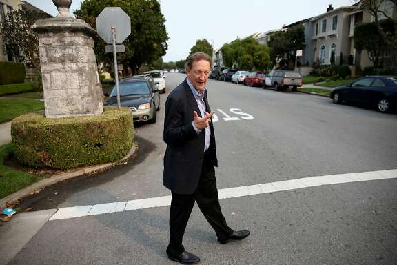 San Francisco Giants President and CEO Larry Baer walks the streets of Sea Cliff, his childhood neighborhood, on October 11, 2017 in San Francisco, Calif.
