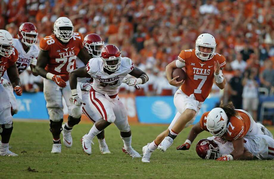 Quarterback Shane Buechele will start against Baylor on Saturday, replacing injured freshman Sam Ehlinger, who remains under the concussion protocol. Photo: Ron Jenkins, FRE / FR171331 AP