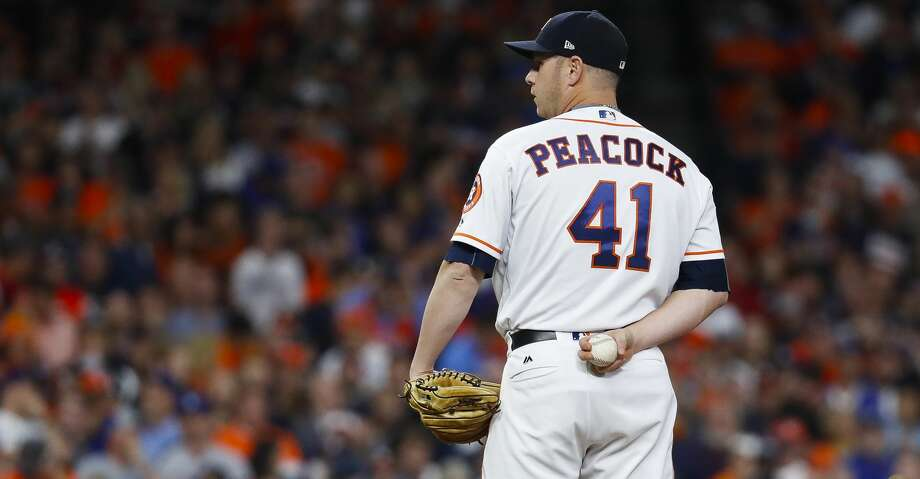 Houston Astros starting pitcher Brad Peacock (41) pitches during the sixth inning of Game 3 of the World Series at Minute Maid Park on Friday, Oct. 27, 2017, in Houston.  ( Karen Warren  / Houston Chronicle ) Photo: Karen Warren/Houston Chronicle
