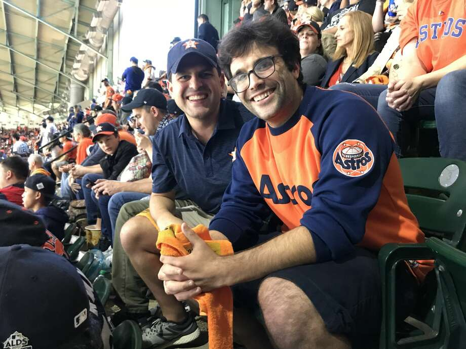 PHOTO: A look at Astros fans at Game 3 of the Astros-Dodgers World SeriesAstros fans Jeff Magids (left) and Shaun Spinner were able to score cheap tickets for the Astros-Dodgers World Series Game 3 on Friday night at Minute Maid Park.Browse through the photos above for a look at Astros fans at Game 3 on Friday night. Photo: Matt Young