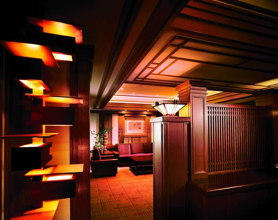 The sumptuous Frank Lloyd Wright Suite at the Imperial Hotel, Tokyo, celebrates the style of the architect of the hotel's previous incarnation. Photo: Imperial Hotel, Tokyo